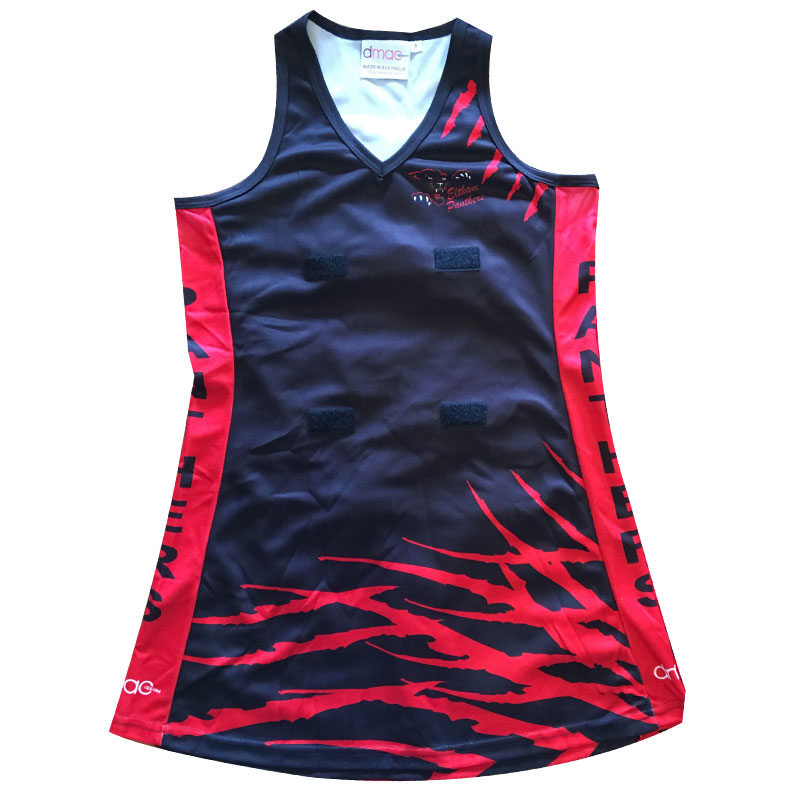 panthers netball dress